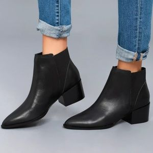 Chinese Laundry 'Finn' black leather ankle booties